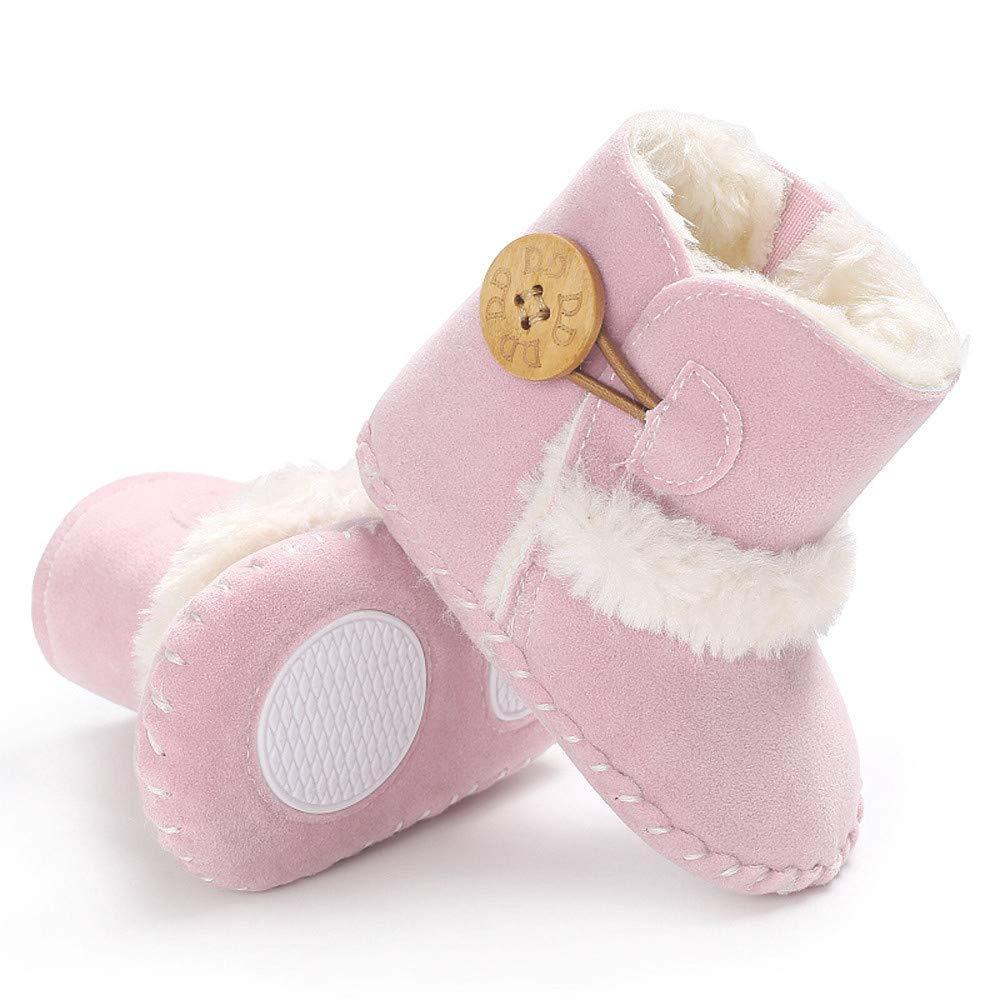 luoluoluo Stiefel f/ür Baby Junge M/ädchen 0-18 Monate Baby Schuhe mit Fleece Baumwollstiefel Warme Winterschuhe Baby Schneeschuhe Rutschfeste Krabbelschuhe f/ür Baby Lauflernschuhe Sneaker