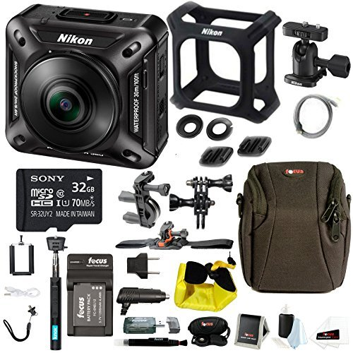 Nikon KeyMission 360 Wi-Fi 4K Action Camera 32GB SD Card Accessory Kit