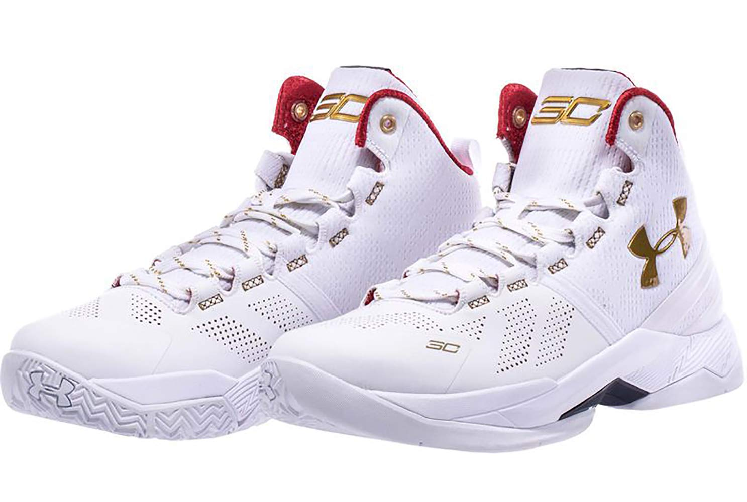 save off 65e75 41222 Under Armour 1270817-100 Kids Grade School UA BGS Curry 2 WHT/RED/MGO
