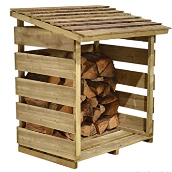Leñero de madera tratada a presión 15 años anti podredumbre garantía ...
