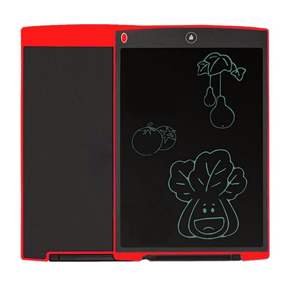 8.5''LCD Writing Board, Portable Paperless Rewritten Digital Graphics Tablet Pad Notepad for Drawing,Note,Memo,Remind,Message,Draft,Scrawl (Red) by Genuiskids (Image #2)