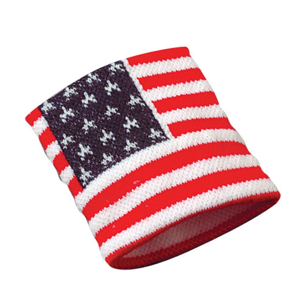 USA Flag Wristband, Pack of 12