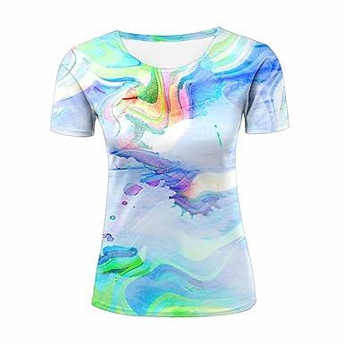 5029608b Amazon.com: ZeShan 3D Print T Shirt Tie-Dye Blue Men Women Couple Fashion  Graphics Tees: Clothing
