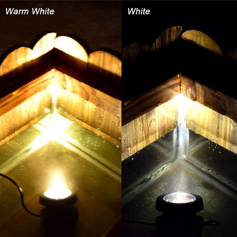 Solar Teich Lichter Draussen,KINGCOO Wasserdichte 18LEDs Solar Unterwasser Sicherheit Nachtlicht Tauchlampen Landschaft Strahler für Garten Pool Pathway Brunnen Beleuchtung Dekoration (Weiß) Warmweiß