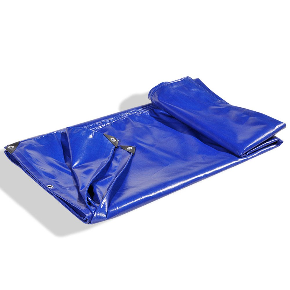 Tarpaulin Picknick-Matte HUO Wasserdichte Plane Verdicken Regen Tuch Picknick-Matte Tarpaulin Sonnenschutz Auto Shade Shed Tuch Staubdicht, 650g M2 (Farbe   Dunkelblau, Größe   46m) a8d267