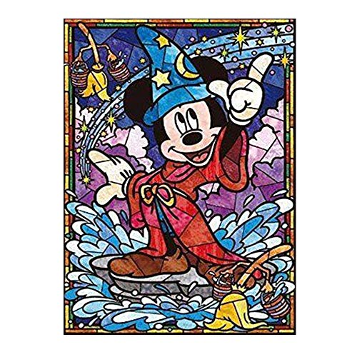 Kimily DIY Paint by Numbers for Adults Kids Mickey Mouse Paint by Numbers DIY Painting Acrylic Paint by Numbers Painting Kit Home Wall Living Room Bedroom Decoration Disney Mickey - Mouse Paint Mickey