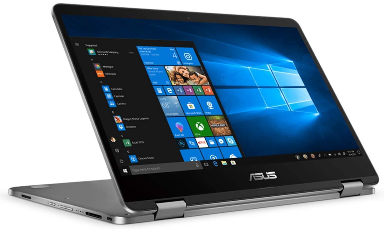 "New ASUS VivoBook 2 in 1 Flip 14"" FHD LCD Touchscreen Laptop Computer, Intel Pentium N5000 up to 2.7GHz, 4GB LPDDR4, 64GB eMMC, Bluetooth, Webcam, Micro HDMI, Fingerprint Reader, Window 10 in S Mode 3"