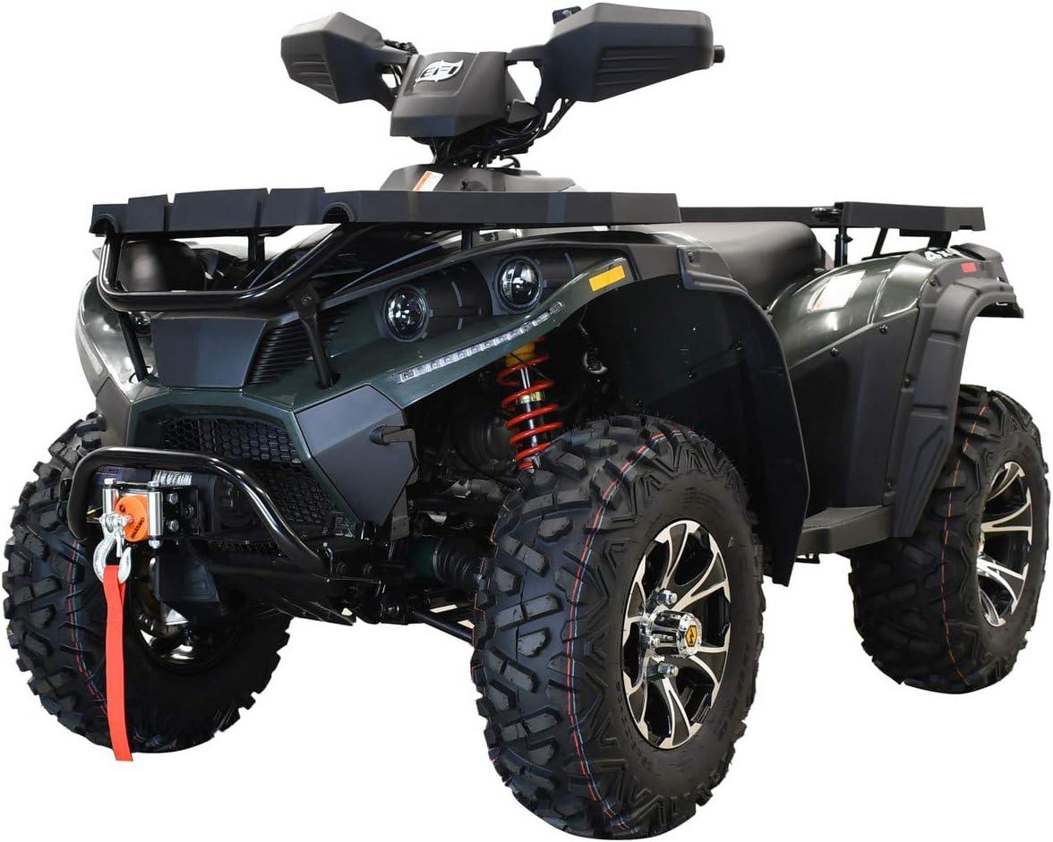 Big 25 Alloy Tires Fully Assembled! Blue X-PRO 2020 MSA400 Fuel Injected ATV 25HP Quad 4 Wheelers