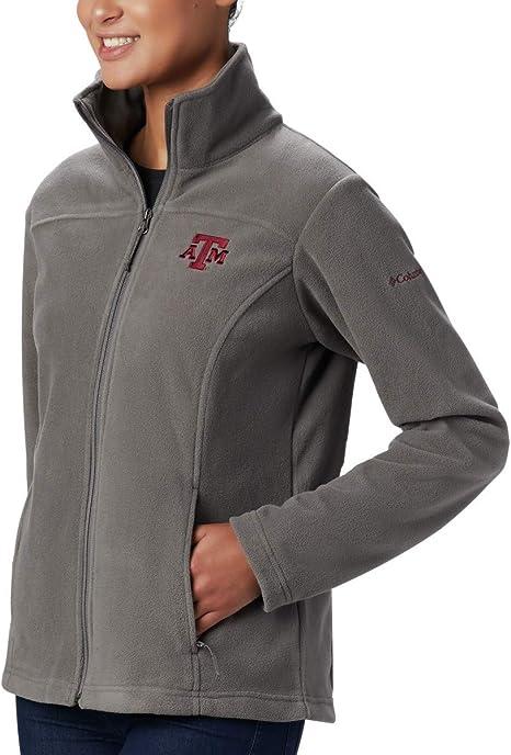 TAM Deep Maroon NCAA Texas A/&M Aggies Womens Give and Go II Full Zip Fleece Jacket Large
