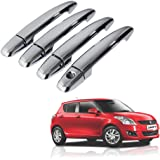 Auto Pearl Chrome Door Handle Latch Cover for Maruti Suzuki Swift (Set of 4)