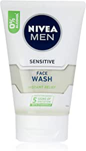 NIVEA Men Sensitive Face Wash with Chamomile & Vitamin E for Instant Relief. For Men with Sensitive Skin, 100ml