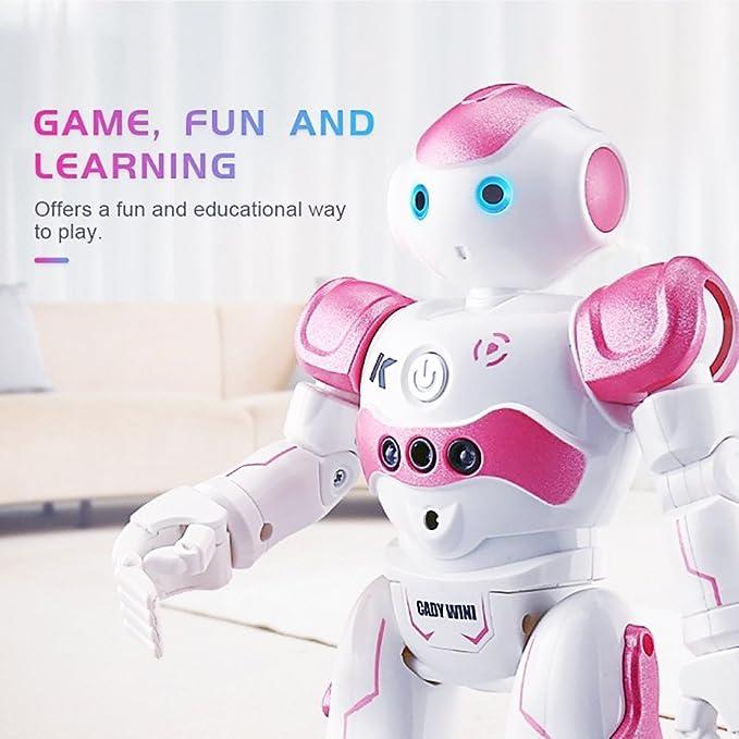 Robot Juguete RC, Robot Control Remoto Bailando Cantando Sensor de Gestos Robot de Aprendizaje Robot Inteligente(rosa): Amazon.es: Juguetes y juegos
