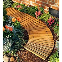 Plow & Hearth Roll Out Wooden Curved Garden Pathway