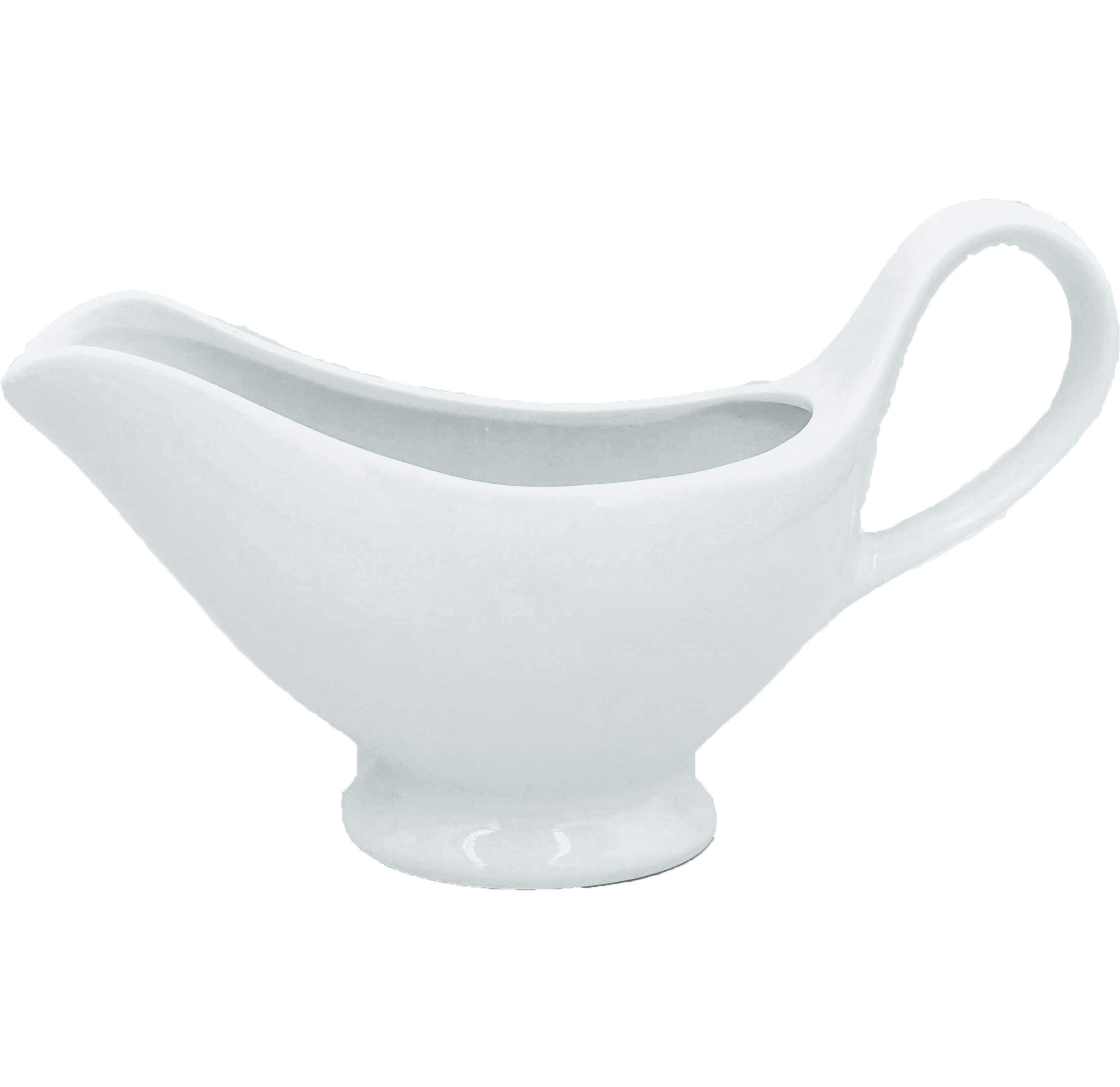 Gravy Boats White Fine Porcelain,Apply To Gravy, Salad Dressing, Sauce and Broth.(300 Milliliter-ounces)