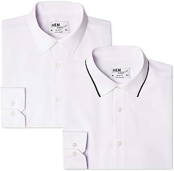 Marca Amazon - Hem & Seam Slim Fit Collar, Camisa de Oficina ...
