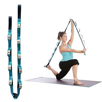 Amazon.com : Eleoption Stretch Out Strap Yoga Strap for ...