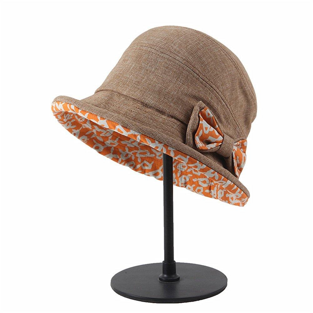 Dfgerten Sombreros de Sol de Verano para Mujer Sombreros de Sombrero de Dama de Verano Plegable Protección contra Rayos UV Plegable Visera Visera Sombrero para Sol Mujer Ropa Color : Marrón Pamelas
