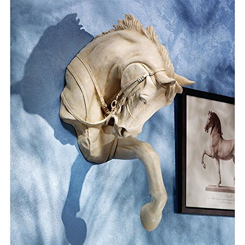 - Design Toscano Thoroughbred Horse Wall Sculpture, 27 Inch, Polyresin, Ancient Ivory