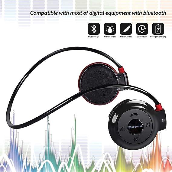 13c4df9d585 Running Headphones Neckband Sports Earphones Bluetooth Wireless Sports  Headset Over-Ear earbuds with Sweatproof,