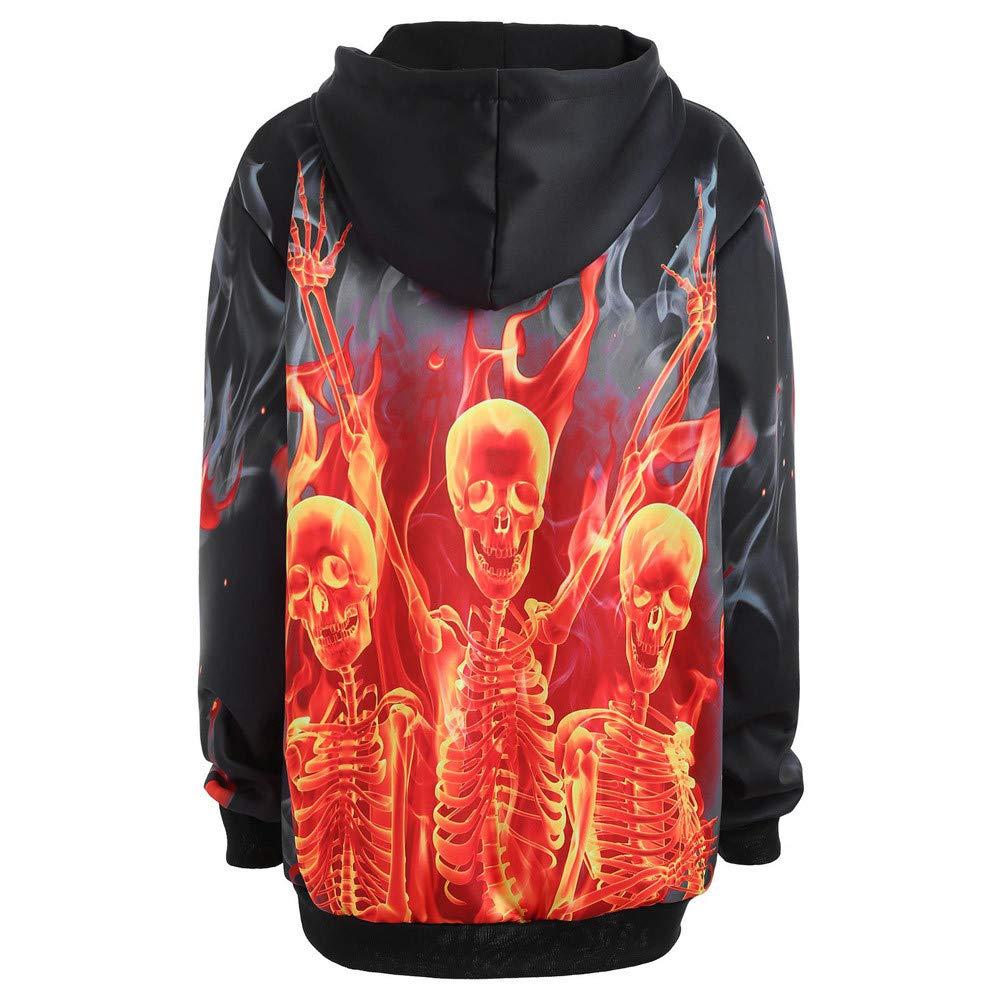 Inverlee Women Long Sleeve Halloween Skeleton Fire Pocket Hoodie Torch Tunik Blue Black Navy Xl Kangaroo Blouse At Amazon Womens Clothing Store