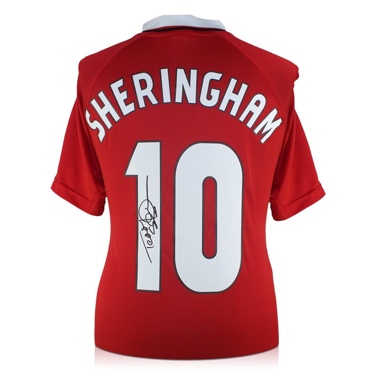 exclusivememorabilia.com Camiseta de fútbol Manchester United firmada por Teddy Sheringham: Amazon.es: Deportes y aire libre