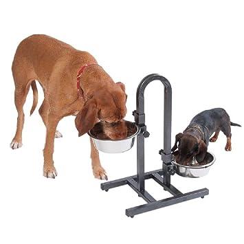 Doble Perro cuencos con soporte para agua alimentos
