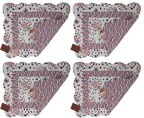 Quilted Cloth Placemats - 8