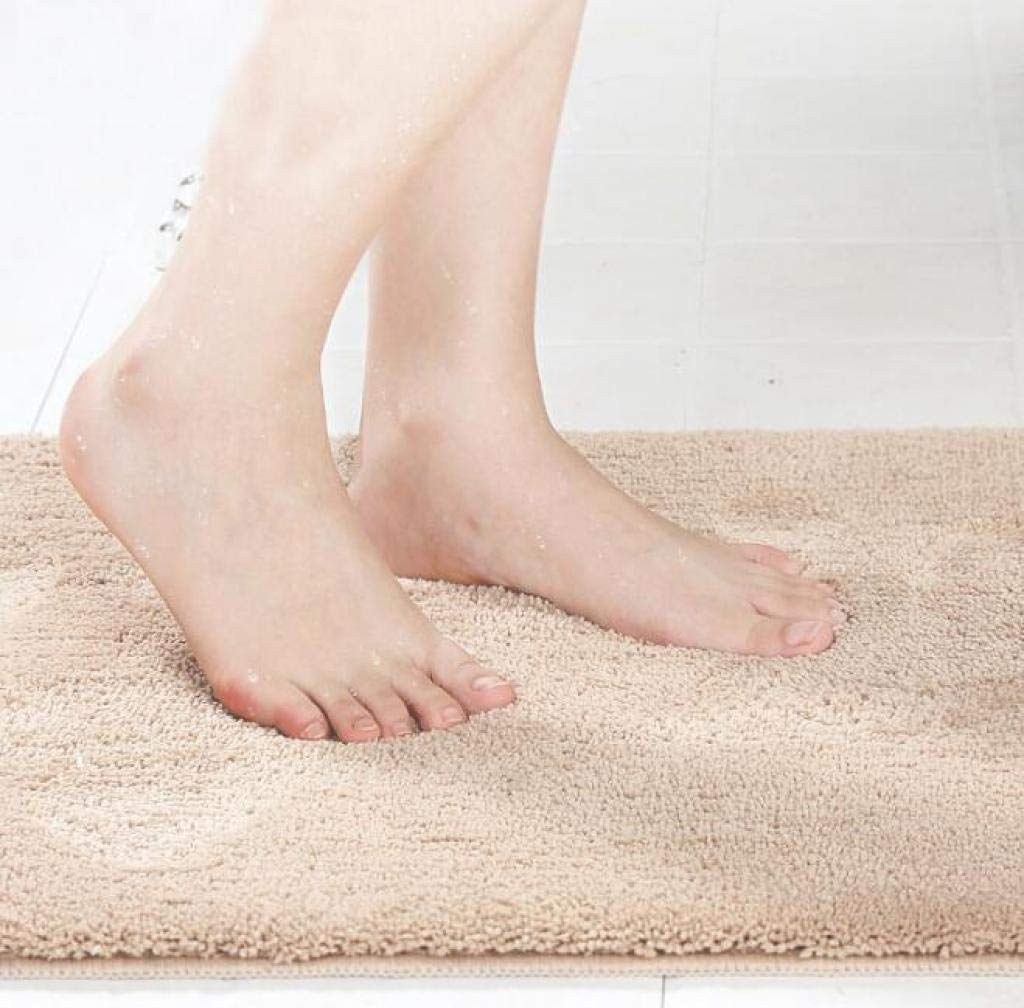Louise Maelys Soft Door Bed Mat Anti-Slip Bathroom Rug Home Carpet Solid Color