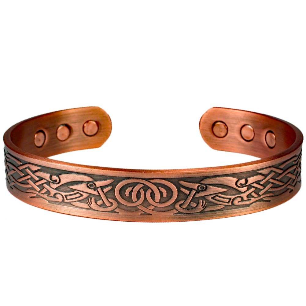 MPS® Bracelet jonc, Bracelet magnétique en cuivre, Avec six aimants-#N-BAC-68-C-MJUK MPS Bracelet jonc Adva Trading Ltd.