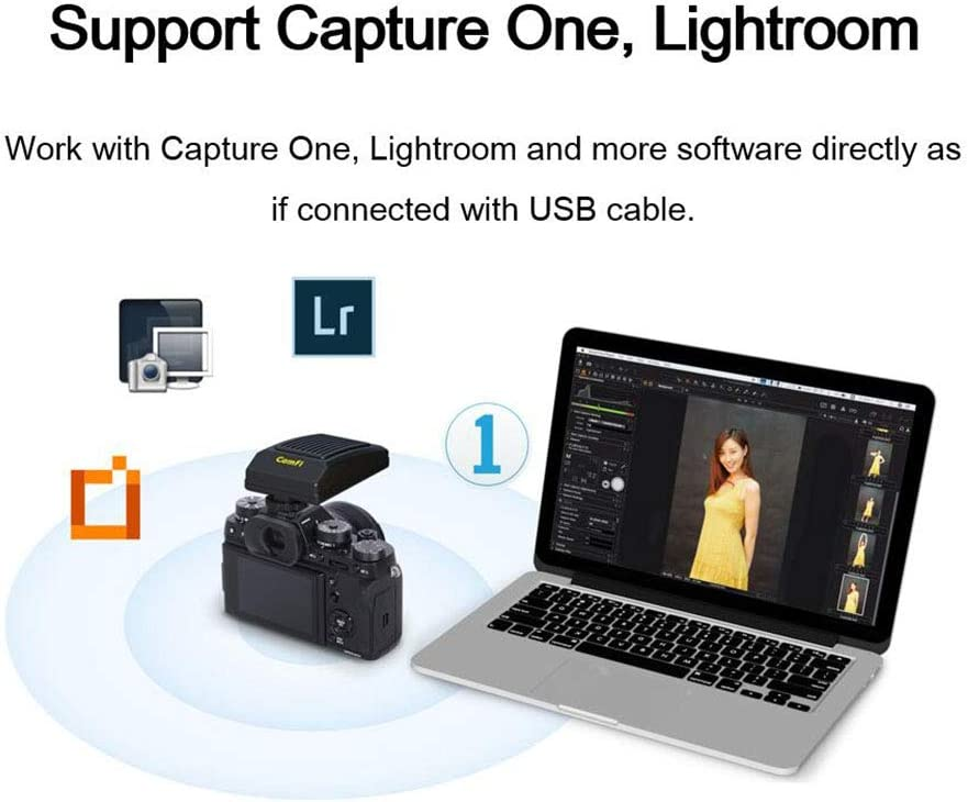 CamFi Pro Plus Wireless Tether Shooting Tool DSLR Camera Remote Controller Capture Transmit for Canon Nikon Sony Fujifilm Pentax High Speed Transmit Live View Focus stacking View moible