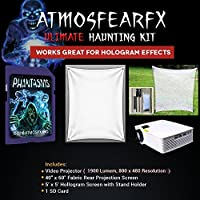 Amosfearfx Phantasms Video Ultimate Projector Bundle.Includes Projector, SD Media Card, Translucent Window Screen And Hologram Screen Stand Kit