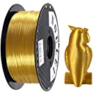 Noulei Shiny PLA 3D Printing Filament 1.75mm Silk Gold for 3D Printer and 3D Pen, 1kg 1 Spool +/-0.02mm
