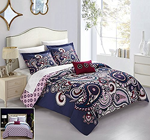 Chic Home 4 Piece Lively Reversible Large Scale