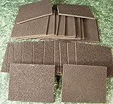 24pc Sanding PAD Sponge 60 and 150 Grit Wet/Dry Reusable lg 5-1/2 Sand sponges