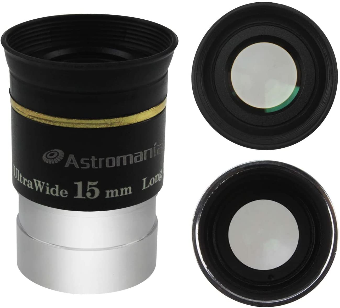 Astromania 1.25 15mm 66-Degree Ultra Wide Angle Eyepiece for Telescope