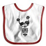 Day Of Dead PANDA SkullWaterproof Bibs The Baby