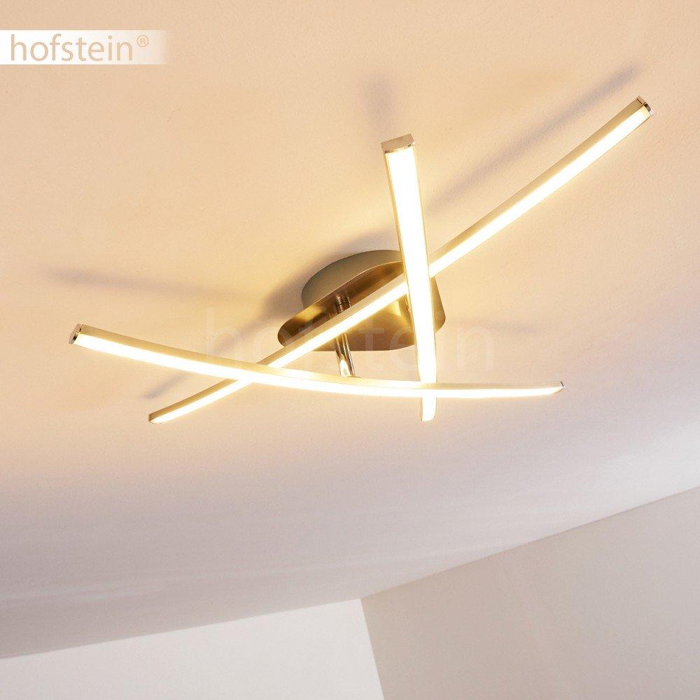 3-luci regolabili e inclinabili Plafoniera design Luce calda 3000 Kelvin 1000 Lumen moderna Lampada da soffitto LED Deneb in metallo di colore nichel opaco