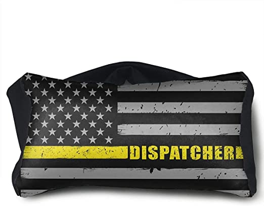 911 Dispatcher Gift Thin Gold Line Flag Carry Lightweight Large Capacity Portable Travel Luggage Trolley Bag