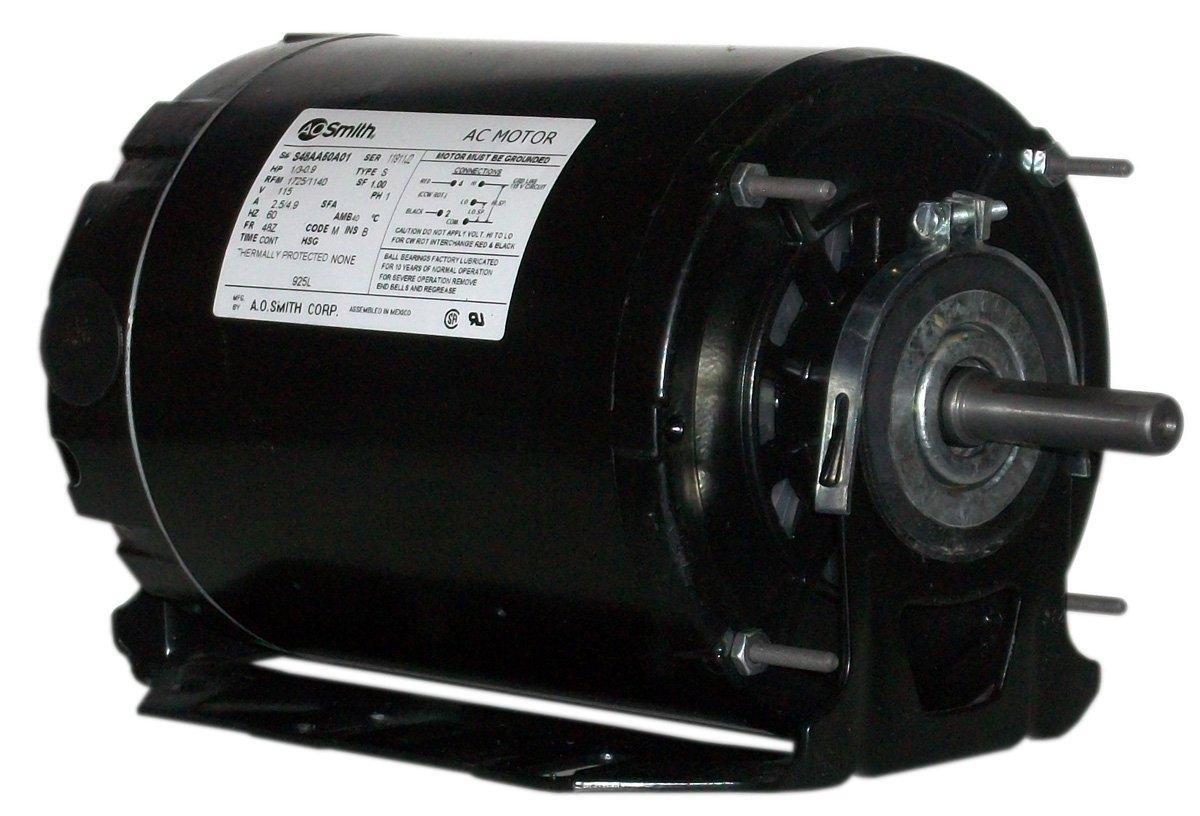 A.O. Smith 925AL 1/3-1/11 hp, 1725/1140 RPM, 115 volts, 48 Frame, ODP, Ball Bearing Belt Drive Blower Motor