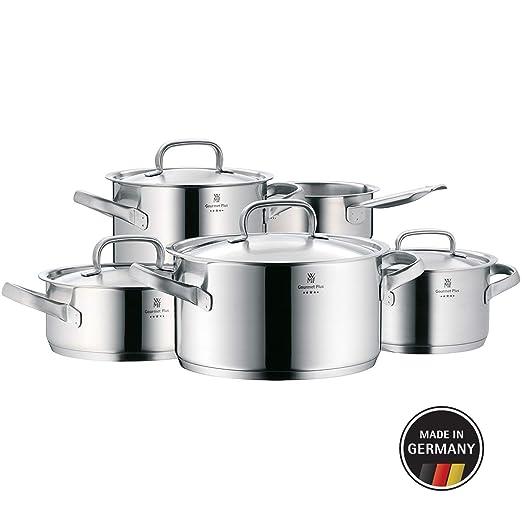 WMF Gourmet Plus-Batería de Cocina, Cromargan Acero Inoxidable, 5 Piezas