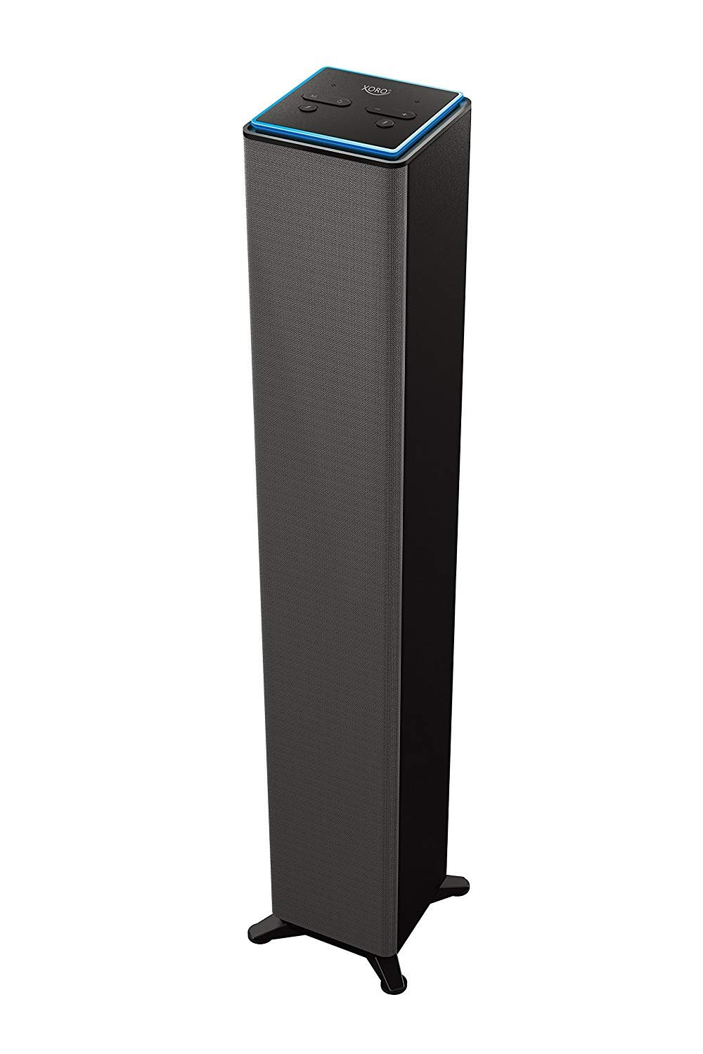 MAS Elektronik XVS 200 Barra de Sonido con Alexa Asistente (DLNA, Airplay, Music Streaming, 2 x 10 W, WiFi, BT, Linein) Negro