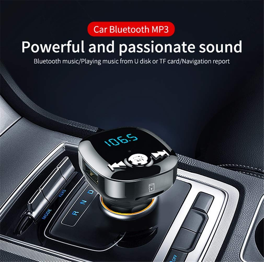 FM Transmitter MP3 Player Bluetooth Receiver/Hands Free Calling/Radio Adapter/Car Charger with Bluetooth 4.2/2 USB Ports Car Kit by Nwbdqc (Image #2)