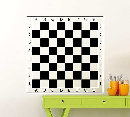 Vinilo adhesivo de tablero de ajedrez para pared de tablero de ...