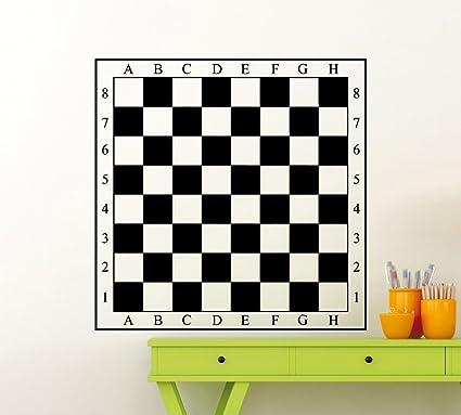 chessboard decal chess board wall vinyl sticker checkerboard mural