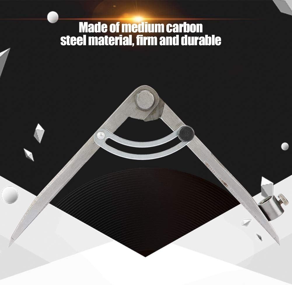 200mm Compass /à Pointe /à Tracer Marquage en Acier au Carbone Boussole Marquage R/églable pour Cuir Outil Rotatif de Diviseur dAile