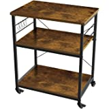 AZ L1 Life Concept 3-Tier Kitchen Rack Utility Microwave Oven Stand Movable Cart Workstation Shelf Pantries, 23.72 inches, De