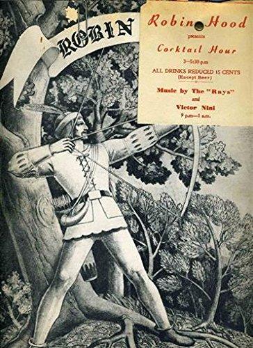 Robin Hood Dinner Menu 1948 Sir Guy Little John Friar Tuck Washington DC
