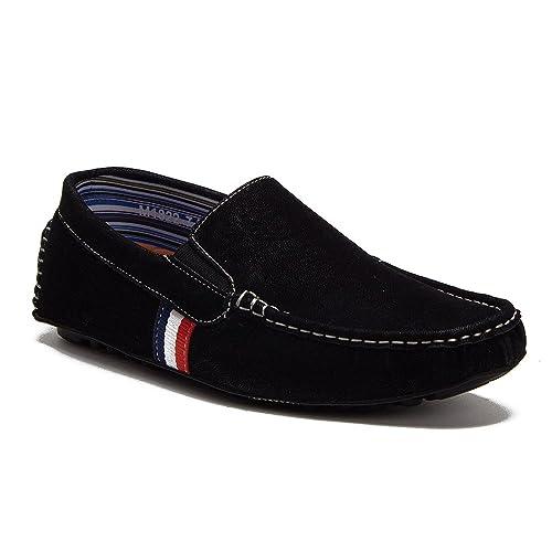 Jaime Aldo New Mens M1822 Designer Belt Slip On Driving Moccasin Loafer Shoes,