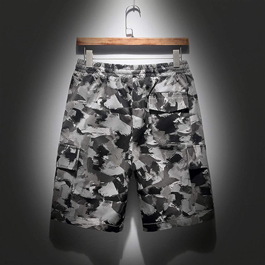 Pantalones Camuflaje Hombre, SUNNSEAN Pants de Verde Militar ...