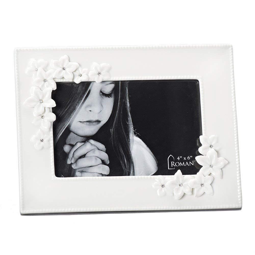 Amazoncom Roman Love In Bloom Communion Ceramic White Picture